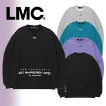 LMC Unisex Street Style Long Sleeves Plain Cotton Oversized