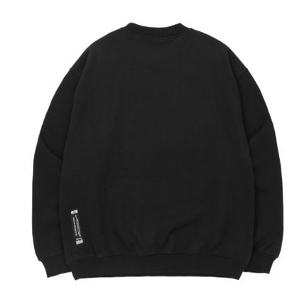 Sweatshirts Unisex Street Style Long Sleeves Plain Cotton Oversized 3