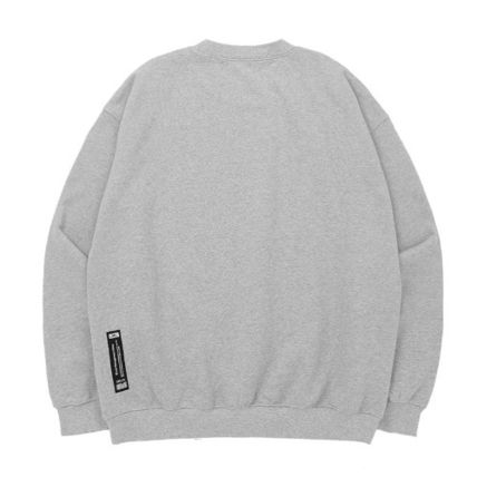 Sweatshirts Unisex Street Style Long Sleeves Plain Cotton Oversized 5