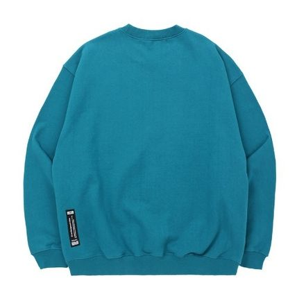 Sweatshirts Unisex Street Style Long Sleeves Plain Cotton Oversized 7