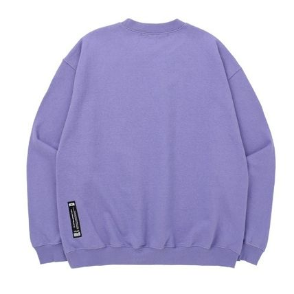 Sweatshirts Unisex Street Style Long Sleeves Plain Cotton Oversized 9