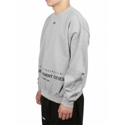Sweatshirts Unisex Street Style Long Sleeves Plain Cotton Oversized 18