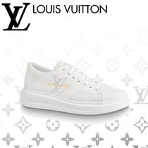 Louis Vuitton Plain Leather Sneakers