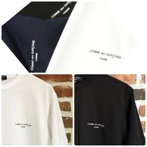 COMME des GARCONS Crew Neck Unisex Street Style Short Sleeves T-Shirts