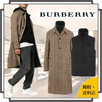 Burberry Glen Patterns Other Plaid Patterns Blended Fabrics Long