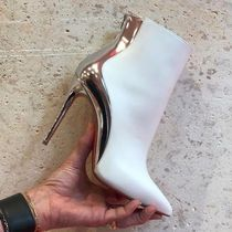 Christian Louboutin Blended Fabrics Bi-color Plain Leather Pin Heels