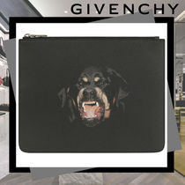 GIVENCHY Canvas Street Style Plain Clutches