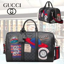 GUCCI Blended Fabrics Street Style A4 2WAY Other Animal Patterns