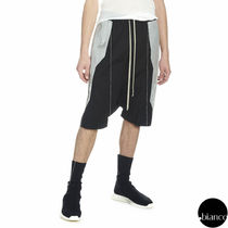 RICK OWENS Bi-color Plain Sarouel Shorts
