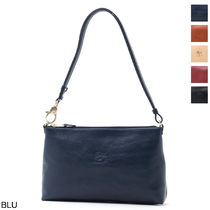 IL BISONTE Casual Style Leather Shoulder Bags