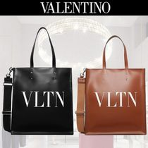 VALENTINO Studded A4 Leather Totes