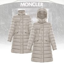 MONCLER HERMINE Street Style Plain Long Down Jackets