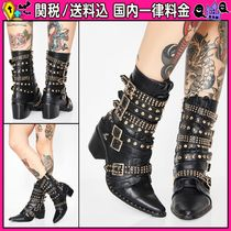 DOLLS KILL Casual Style Studded Plain Ankle & Booties Boots