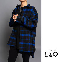 Other Check Patterns Unisex Street Style Long Sleeves