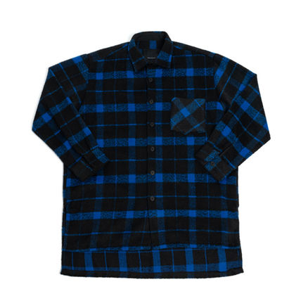 Shirts Other Check Patterns Unisex Street Style Long Sleeves 8
