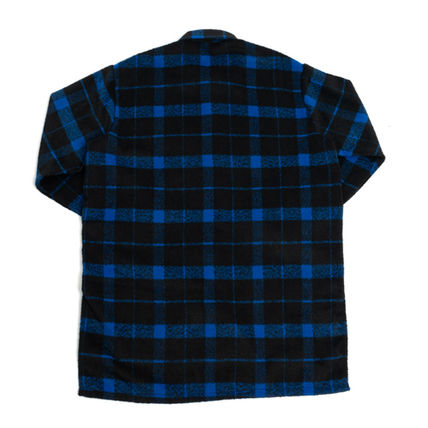 Shirts Other Check Patterns Unisex Street Style Long Sleeves 9