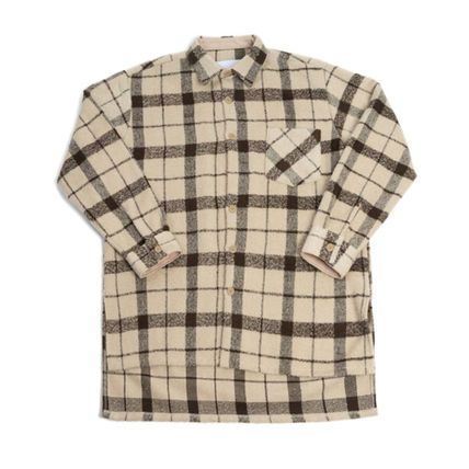 Shirts Other Check Patterns Unisex Street Style Long Sleeves 10