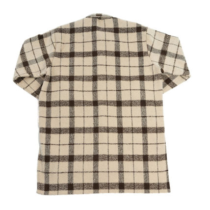 Shirts Other Check Patterns Unisex Street Style Long Sleeves 11