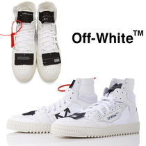 Off-White OFF COURT Blended Fabrics Street Style Plain Leather Sneakers