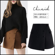 Chicwish Short Wool Plain Shorts