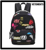 VETEMENTS Casual Style Unisex Street Style 2WAY Backpacks