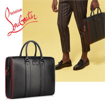 Christian Louboutin Calfskin 2WAY Plain Business & Briefcases
