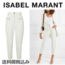 Isabel Marant Blended Fabrics Plain Leather Elegant Style