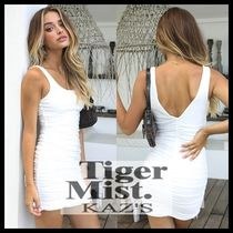 Tiger Mist Short Casual Style Plain Dresses