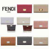 FENDI PEEKABOO Plain Leather Long Wallets
