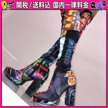 DOLLS KILL Round Toe Casual Style Over-the-Knee Boots