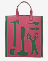 HERMES petit h Casual Style Unisex Calfskin A4 Handmade Totes