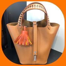 HERMES Picotin Casual Style Leather Handbags
