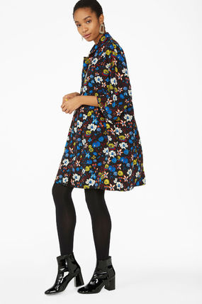 Flower Patterns Cropped Dresses