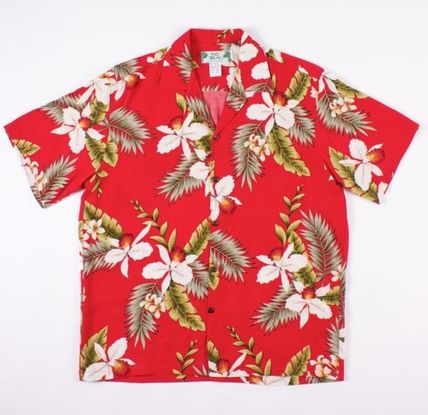 Tropical Patterns Street Style Short Sleeves Shirts