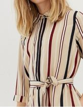 SELECTED Stripes Casual Style Medium Dresses