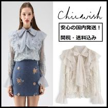 Chicwish Long Sleeves Lace Shirts & Blouses