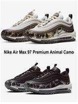 Nike AIR MAX 97 Camouflage Casual Style Unisex Street Style Low-Top Sneakers