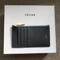 CELINE Zipped Calfskin Card Holders