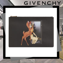 GIVENCHY Street Style Plain Other Animal Patterns Clutches