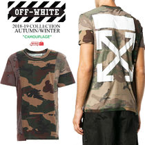 Off-White Crew Neck Street Style Short Sleeves Crew Neck T-Shirts