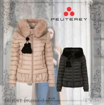 PEUTEREY Monogram Zigzag Long Down Jackets