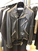 Christian Dior Short Plain Leather Biker Jackets