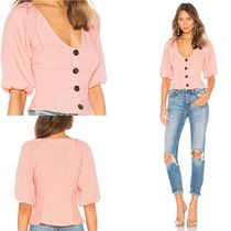Lovers&Friends Casual Style Puffed Sleeves Plain Medium Shirts & Blouses