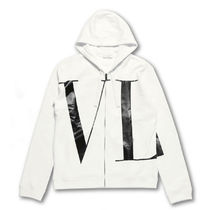 VALENTINO Long Sleeves Cotton Logo Hoodies