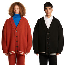 TRUNK PROJECT Unisex Wool Street Style Plain Oversized Cardigans