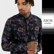 ASOS Flower Patterns Street Style Long Sleeves Shirts