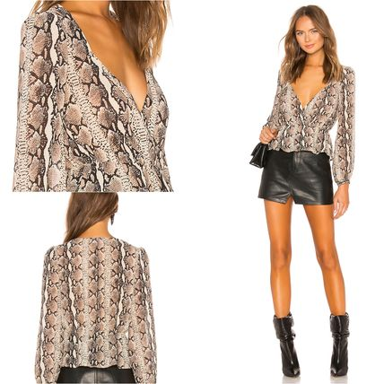 Casual Style Long Sleeves Medium Python Shirts & Blouses