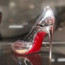 Christian Louboutin Blended Fabrics Plain Pin Heels Party Style PVC Clothing