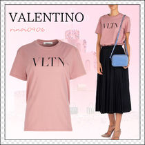 VALENTINO Crew Neck Cotton Short Sleeves Oversized T-Shirts