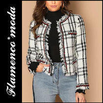 Glen Patterns Casual Style Tweed Jackets